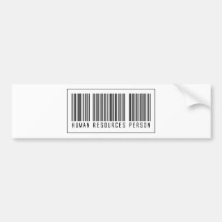 Barcode Human Resources Person Bumper Stickers