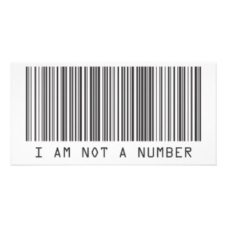 Barcode - I Am Not  A Number Photo Cards