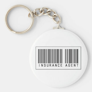 Barcode Insurance Agent Key Ring