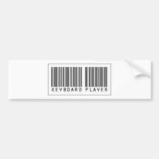 Barcode Keyboard Player Bumper Stickers
