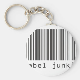 Barcode - Label Junkie Basic Round Button Key Ring