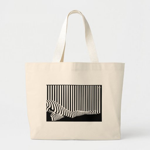 Barcode Legs Tote Canvas Bag
