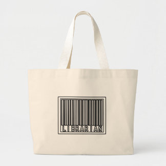 Barcode Librarian Large Tote Bag