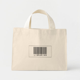 Barcode Librarian Mini Tote Bag