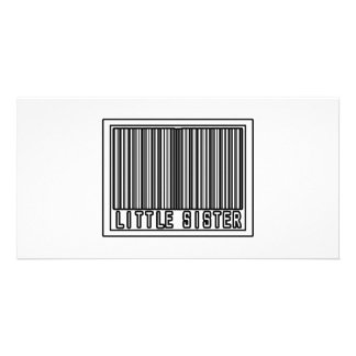 Barcode Little Sister Photo Greeting Card