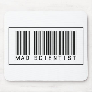 Barcode Mad Scientist Mousepad