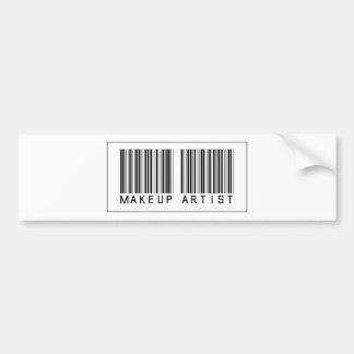 Barcode Makeup Artist Bumper Sticker