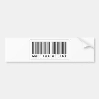 Barcode Martial Artist Bumper Sticker