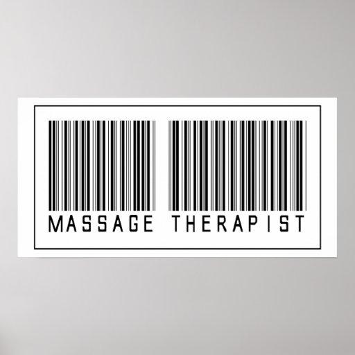 Barcode Massage Therapist Posters