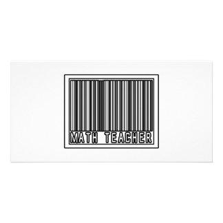 Barcode Math Teacher Photo Card Template