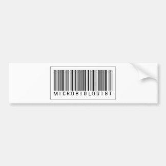 Barcode Microbiologist Bumper Sticker