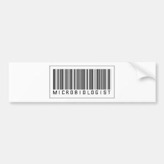 Barcode Microbiologist Car Bumper Sticker