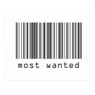 Barcode - Most Wanted Postcards