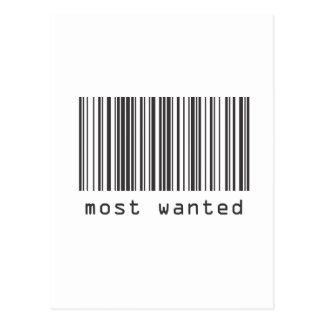 Barcode - Most Wanted Postcard