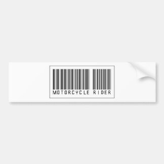 Barcode Motorcycle Rider Bumper Sticker