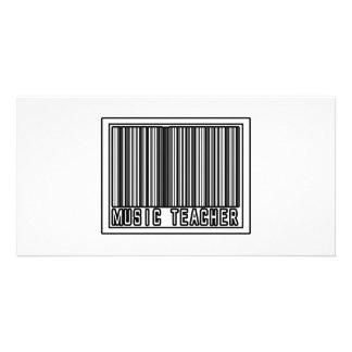 Barcode Music Teacher Photo Greeting Card