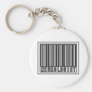 Barcode Neurologist Basic Round Button Key Ring