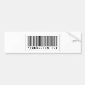 Barcode Neuroscientist Car Bumper Sticker