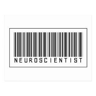 Barcode Neuroscientist Postcard