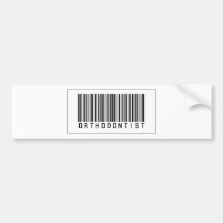 Barcode Orthodontist Bumper Stickers