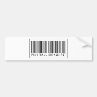 Barcode Paintball Enthusiast Bumper Stickers