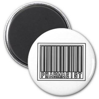 Barcode Pharmacist 6 Cm Round Magnet