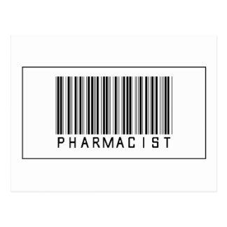 Barcode Pharmacist Postcard