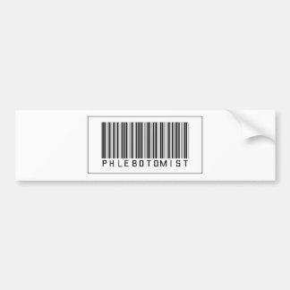 Barcode Phlebotomist Car Bumper Sticker