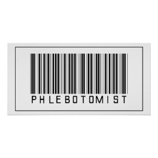 Barcode Phlebotomist Poster