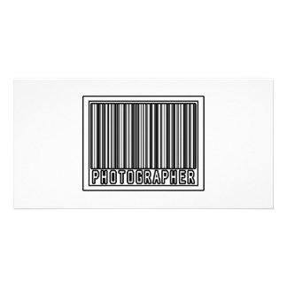 Barcode Photographer Photo Card Template