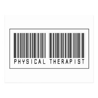 Barcode Physical Therapist Post Card