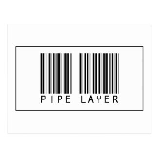 Barcode Pipe Layer Postcard
