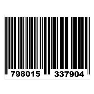 Barcode. Postcard