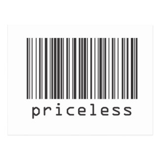 Barcode - Priceless Postcard