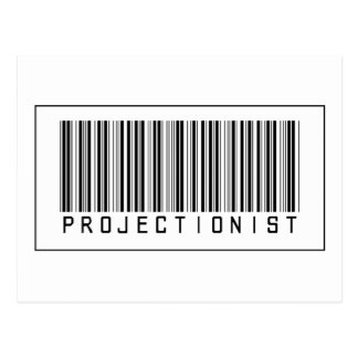 Barcode Projectionist Postcard