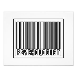 Barcode Psychologist Personalized Invites