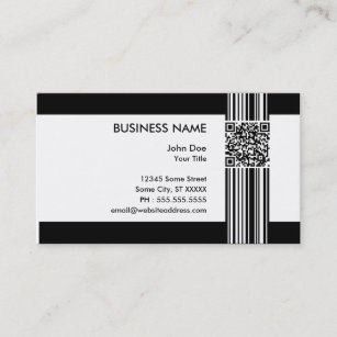Qr barcode business cards business card printing zazzle uk barcode qr code business card colourmoves
