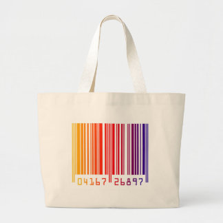 Barcode rainbow graphic canvas bag