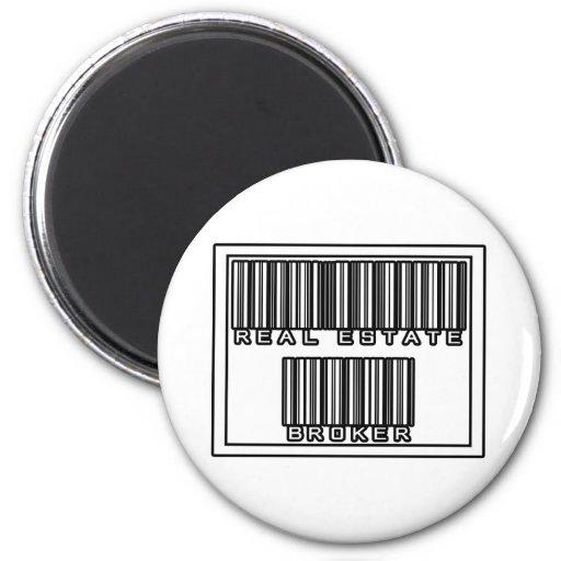 Barcode Real Estate Broker Fridge Magnets