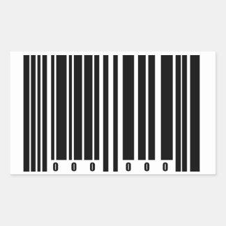 Barcode Rectangular Sticker