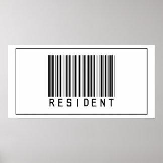 Barcode Resident Print