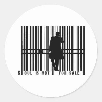 barcode round sticker