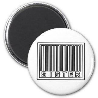 Barcode Sister Fridge Magnets