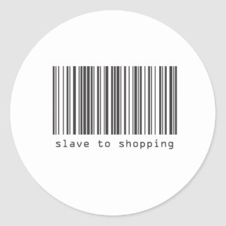 Barcode - Slave to Shopping Classic Round Sticker