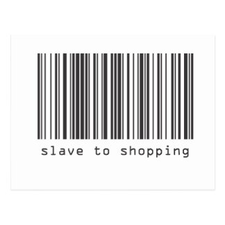 Barcode - Slave to Shopping Postcard