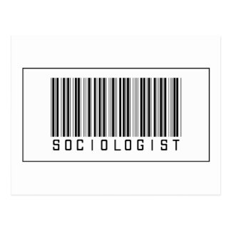 Barcode Sociologist Post Card