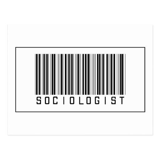 Barcode Sociologist Post Card
