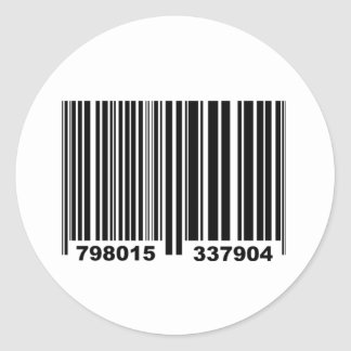 Barcode. Round Sticker