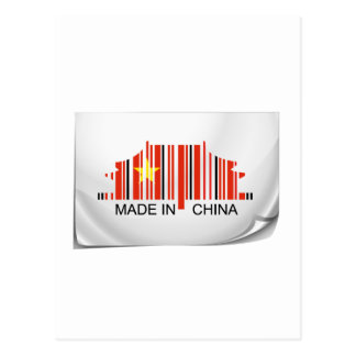 Barcode sticker made in China Post Cards