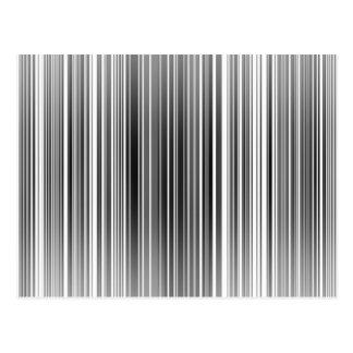 Barcode stripes postcard